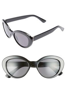 Brass Plum BP. 50mm Vintage Cat Eye Sunglasses