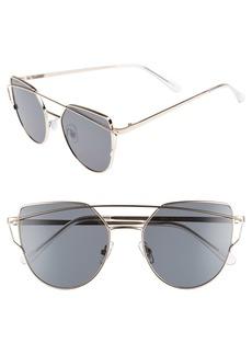 Brass Plum BP. 51mm Thin Brow Angular Aviator Sunglasses