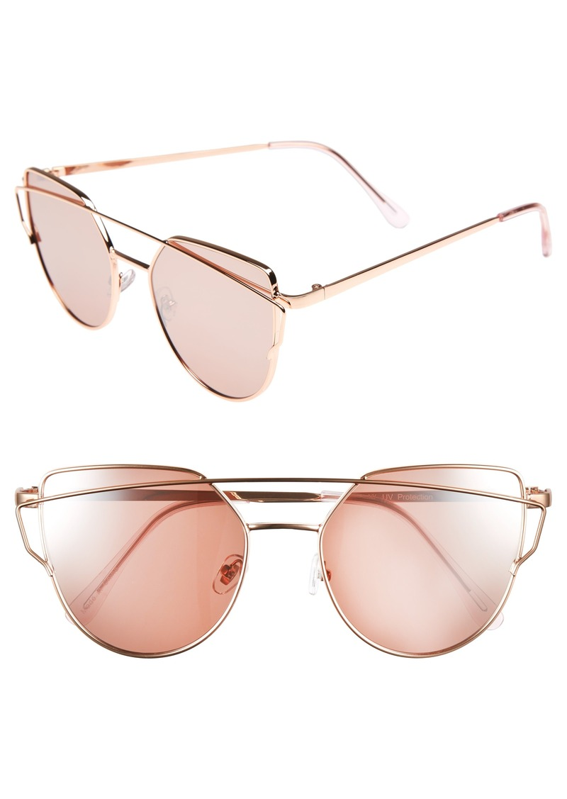 Brass Plum BP. 51mm Thin Brow Angular Aviator Sunglasses