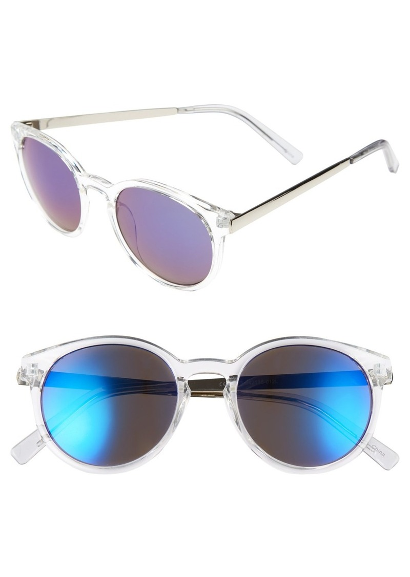Brass Plum BP. 52mm Metal Arm Mirrored Sunglasses