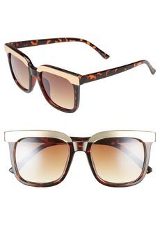 BP. 52mm Metal Dipped Square Sunglasses