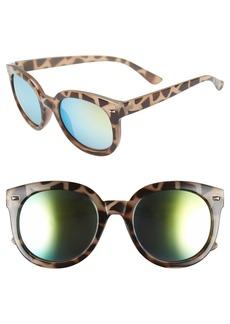 Brass Plum BP. 52mm Oversize Mirrored Sunglasses