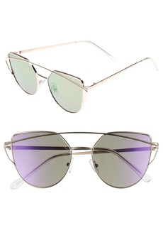 Brass Plum BP. 52mm Thin Brow Angular Aviator Sunglasses