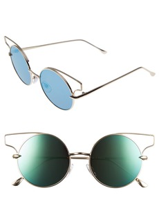 BP. 52mm Wire Round Cat Eye Sunglasses