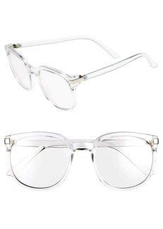 Brass Plum BP. 55mm Clear Oval Fashion Glasses