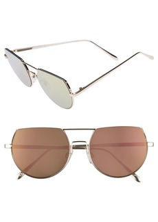 Brass Plum BP. 55mm Flat Top Round Sunglasses