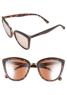 BP. 55mm Metal Rim Cat Eye Sunglasses