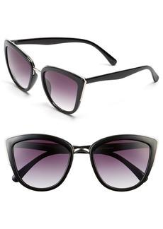Brass Plum BP. 55mm Metal Rim Cat Eye Sunglasses