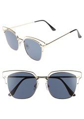 Brass Plum BP. 55mm Metal Wire Sunglasses