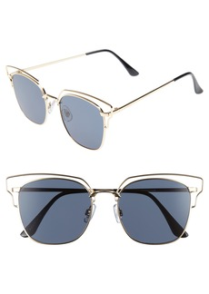 Brass Plum BP. 55mm Metal Wire Sunglasses