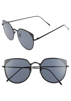 BP. 55mm Mirrored Cat Eye Sunglasses