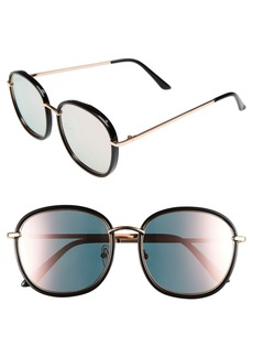 BP. 55mm Mirrored Round Sunglasses