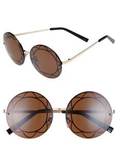 BP. 55mm Round Flower Sunglasses