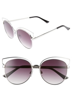 BP. 55mm Round Metal Sunglasses