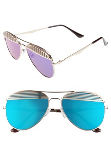BP. 55mm Slat Detail Aviator Sunglasses