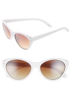 Brass Plum BP. 55mm Studded Cat Eye Sunglasses