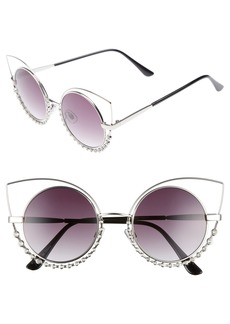 Brass Plum BP. 55mm Studded Round Sunglasses