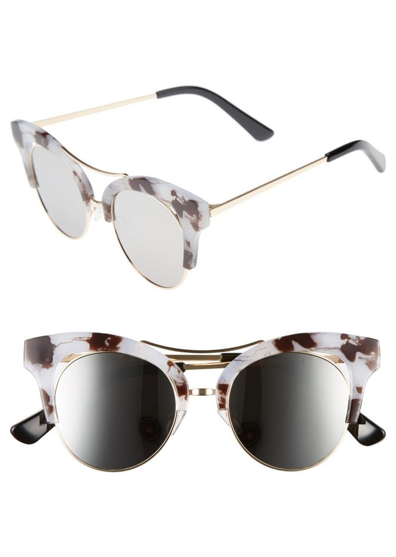 Brass Plum BP. 56mm Funky Cat Eye Sunglasses