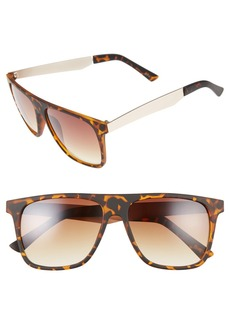 BP. 56mm Matte Square Sunglasses
