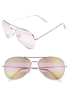 Brass Plum BP. 56mm Two-Tone Aviator Sunglasses