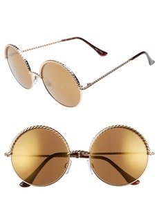 BP. 58mm Chain Trim Round Sunglasses