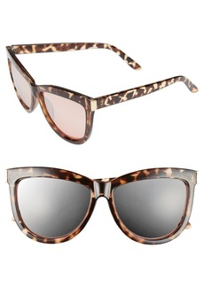BP. 58mm Mirror Cat Eye Sunglasses
