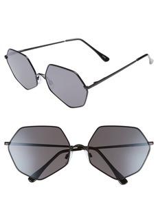 BP. 60 mm Geometric Metal Aviator Sunglasses