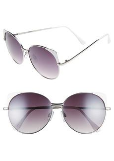BP. 60mm Cat Eye Corner Round Sunglasses