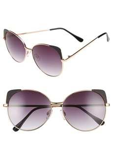 BP. 60mm Cat Eye Corner Round Sunglasses