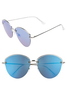 Brass Plum BP. 60mm Half Frame Aviator Sunglasses