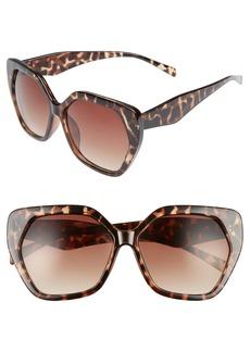 BP. 60mm Hexagon Sunglasses