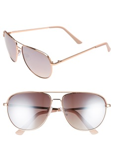 BP. 60mm Metal Aviator Sunglasses