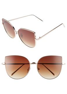 Brass Plum BP. 60mm Metal Cat Eye Sunglasses