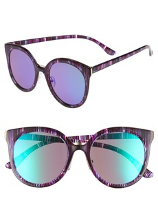 Brass Plum BP. 60mm Mirror Lens Round Sunglasses