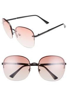 Brass Plum BP. 60mm Rimless Square Sunglasses