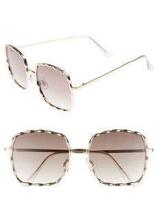 BP. 62mm Textured Square Sunglasses