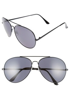 Brass Plum BP. 65mm Oversize Aviator Sunglasses