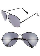 Brass Plum BP. 65mm Oversize Aviator Sunglasses