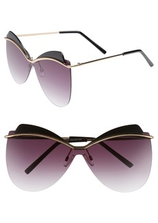 BP. 65mm Rimless Shield Sunglasses