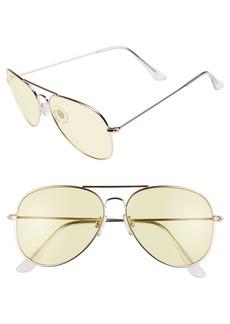 Brass Plum BP. 67mm Colored Aviator Sunglasses
