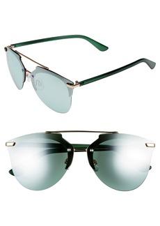 Brass Plum BP. 67mm Cutout Browbar Aviator Sunglasses