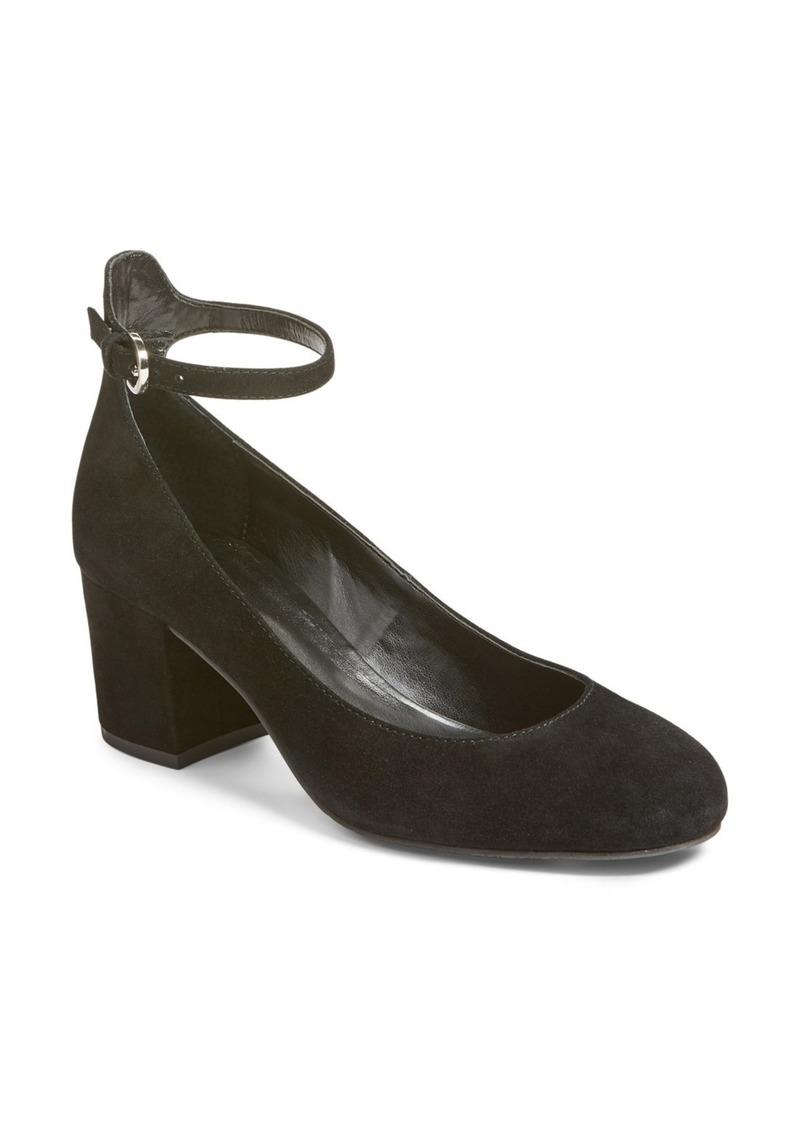 Brass Plum BP. Ankle Strap Block Heel Pump (Women)