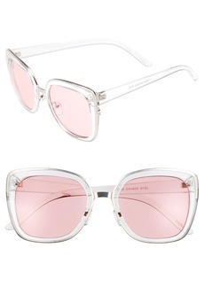 Brass Plum BP. Clear Square Sunglasses