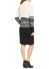 Brass Plum BP. Colorblock Knit Turtleneck Dress