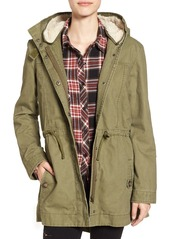 Brass Plum BP. Cotton Anorak with Faux-Fur Lined Hood