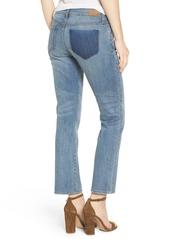 Brass Plum BP. Crop Straight Leg Jeans (Freeman Blue)