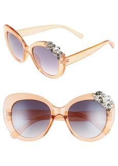 Brass Plum BP. Crystal Cat Eye Sunglasses