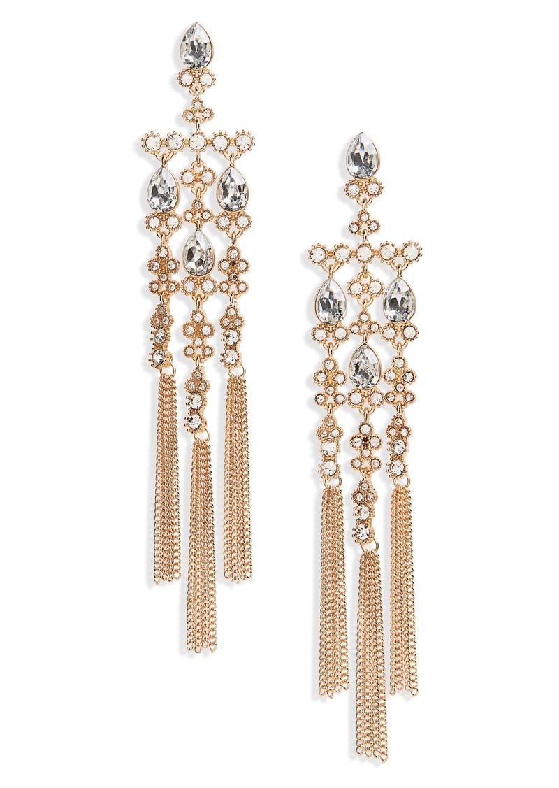 Brass plum bp crystal chandelier drop earrings jewelry shop it crystal chandelier drop earrings arubaitofo Images