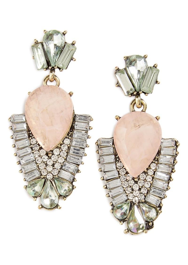 Brass Plum BP. Crystal Statement Earrings