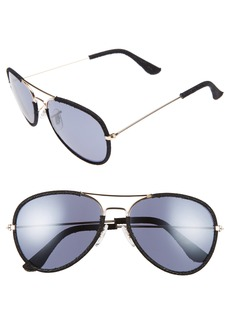 BP. Denim Aviator 58mm Sunglasses